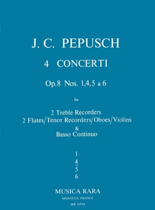 4 Concerti op. 8 : N° 4 -2 Treble recorders 2 Flutes BC laflutedepan