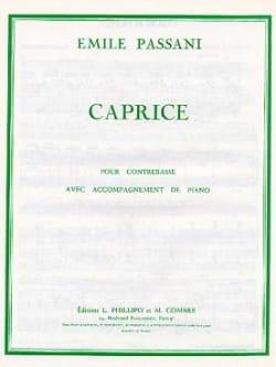 Caprice Emile Passani Partition Contrebasse - laflutedepan