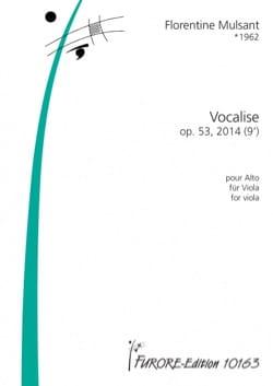 Vocalise - Alto seul Florentine Mulsant Partition Alto - laflutedepan