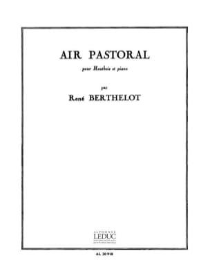 Air pastoral René Berthelot Partition Hautbois - laflutedepan