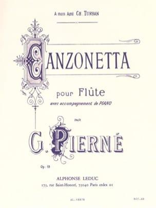 Canzonetta op. 19 PIERNE Partition Flûte traversière - laflutedepan