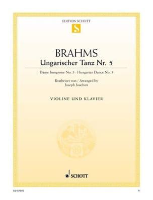 Ungarischer Tanz n° 5 BRAHMS Partition Violon - laflutedepan