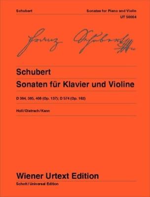 Sonaten für Klavier und Violine SCHUBERT Partition laflutedepan
