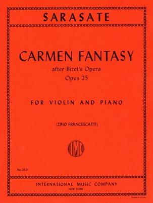 Carmen Fantasy op. 25 SARASATE Partition Violon - laflutedepan