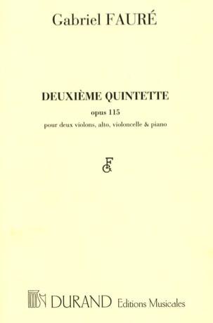 Quintette n° 2 op. 115 FAURÉ Partition Quintettes - laflutedepan