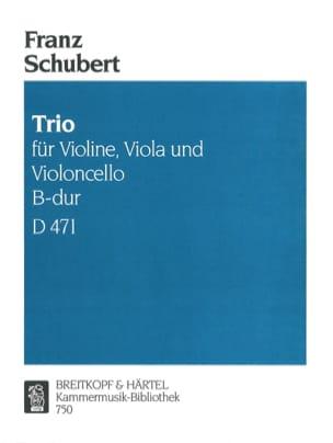 Trio B-Dur D 471 -Violine Viola Cello - Stimmen SCHUBERT laflutedepan