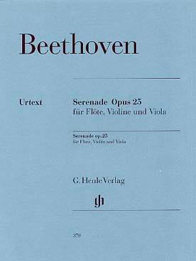 Sérénade Op.25 BEETHOVEN Partition Trios - laflutedepan