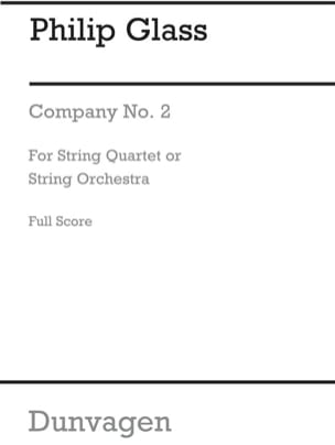 String Quartet N° 2 Company - Score GLASS Partition laflutedepan