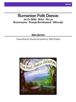 Rumanian Folk Dances BARTOK Partition Quintettes - laflutedepan