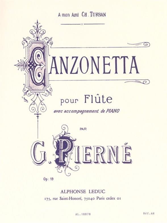 Canzonetta op. 19 - PIERNE - Partition - laflutedepan.com