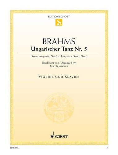 Ungarischer Tanz n° 5 - BRAHMS - Partition - Violon - laflutedepan.com