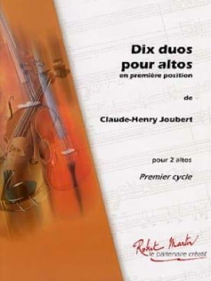 10 Duos pour altos - Claude-Henry Joubert - laflutedepan.com