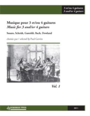 Music For 3-4 Guitars Volume 1 - Paul Gerrits - laflutedepan.com