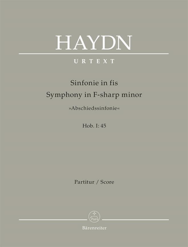 Symphonie N° 45 en Fa# Mineur Les Adieux - HAYDN - laflutedepan.com