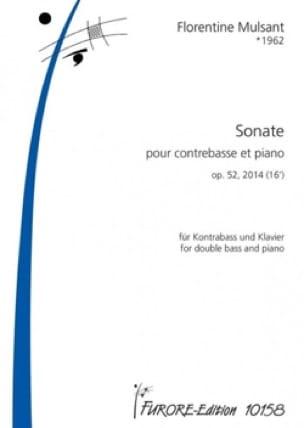 Sonate - Contrebasse et piano - Florentine Mulsant - laflutedepan.com