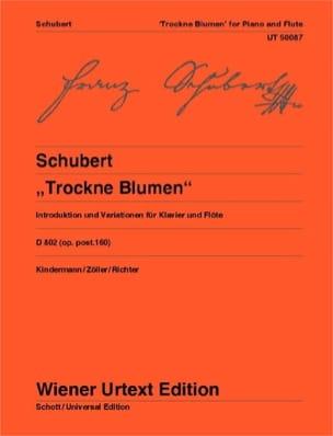 Variationen Trockne Blumen D. 802 Op. Post. 160 SCHUBERT laflutedepan