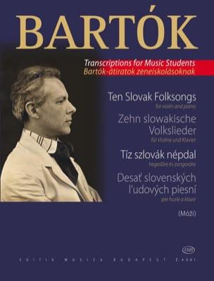 BARTOK - 10 Slowakische Volkslieder - Violine - Partition - di-arezzo.es