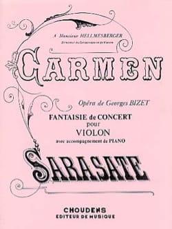 Carmen fantaisie de concert op. 25 SARASATE Partition laflutedepan