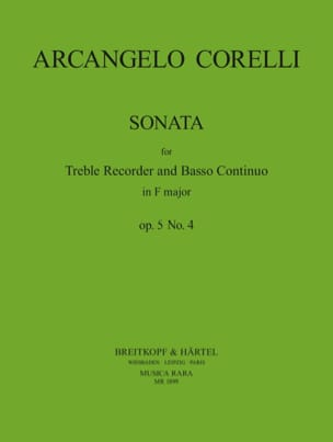 Sonate En Fa Maj. op. 5 n° 4 CORELLI Partition laflutedepan