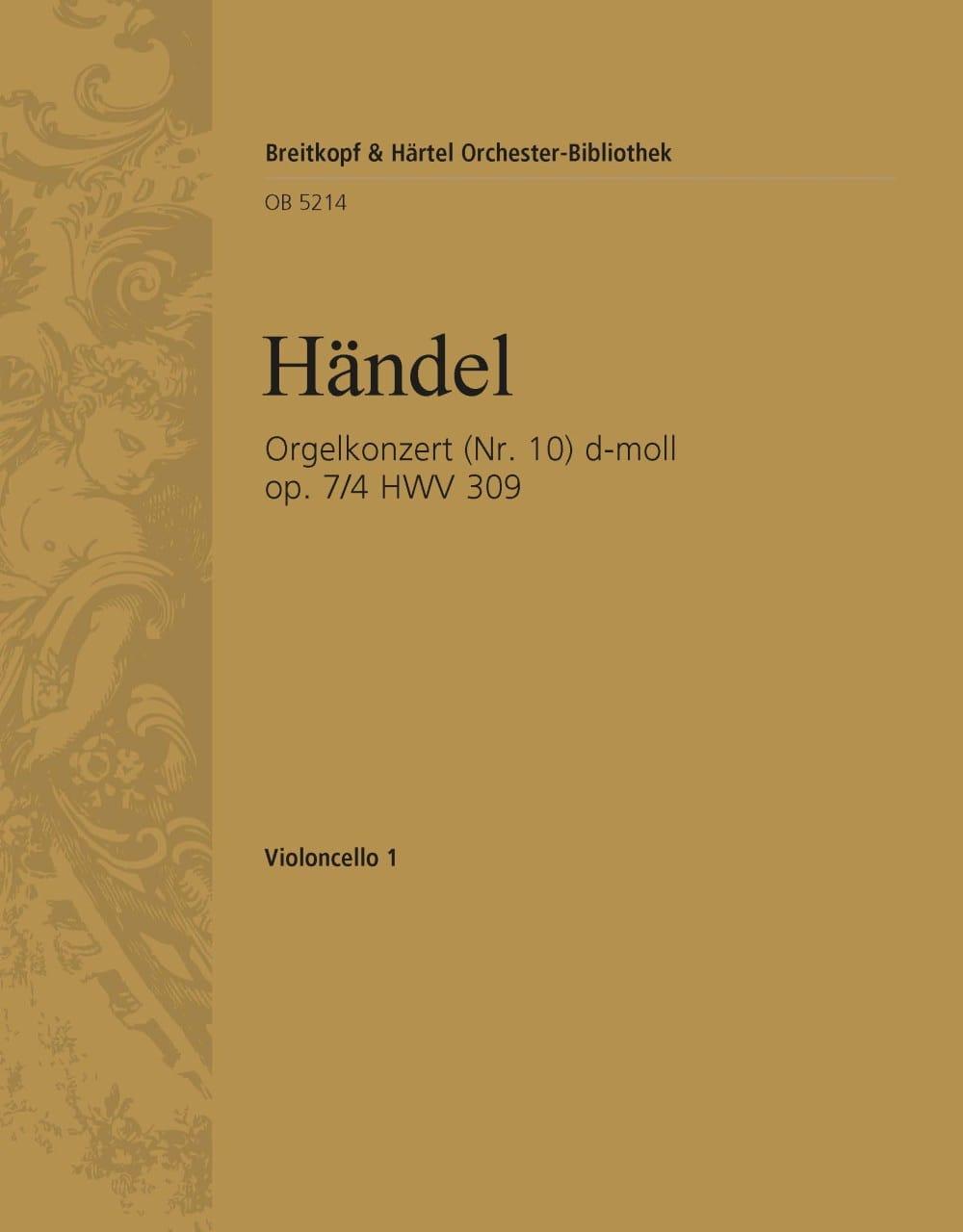 Orgelkonzert d-moll op. 7/4 HWV 309 - HAENDEL - laflutedepan.com
