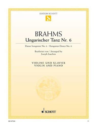 Ungarischer Tanz n° 6 - BRAHMS - Partition - Violon - laflutedepan.com