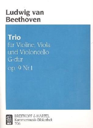 Trio op. 9 n° 1 G Dur -Stimmen - BEETHOVEN - laflutedepan.com