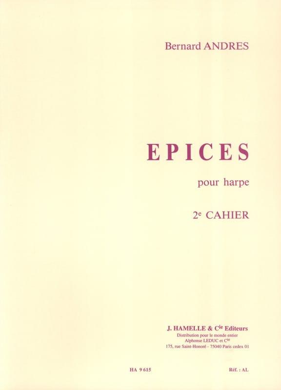 Epices - Cahier 2 - Bernard Andrès - Partition - laflutedepan.com