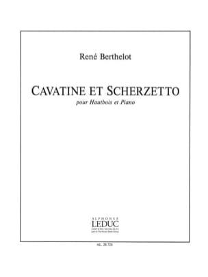 Cavatine et Scherzetto René Berthelot Partition laflutedepan