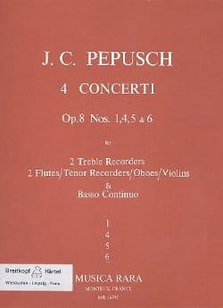 4 Concerti op. 8 : N° 6 -2 Treble recorders 2 Flutes BC laflutedepan