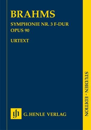 Symphonie n° 3 en Fa majeur op. 90 BRAHMS Partition laflutedepan