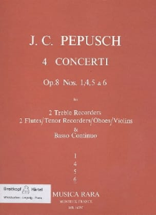 4 Concerti op. 8 : N° 6 -2 Treble recorders 2 Flutes BC - laflutedepan.com