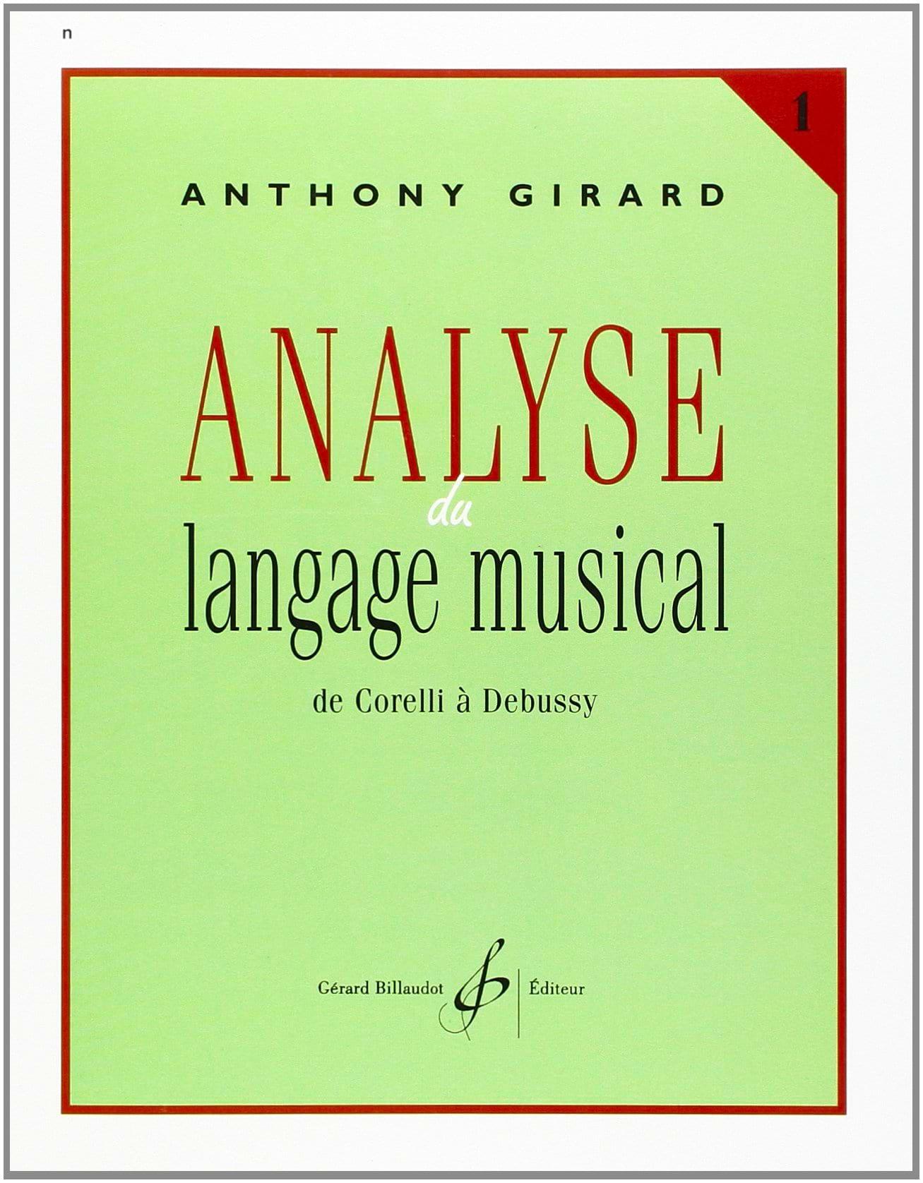Analyse du langage musical - Volume 1 - laflutedepan.com