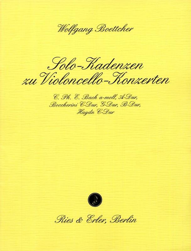 Cadences de Concerto Pour Violoncelle - laflutedepan.com