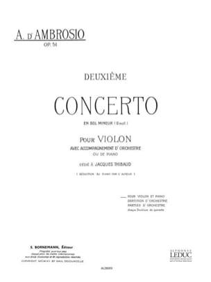 Concerto n° 2 op. 51 en sol mineur Alfredo (d') Ambrosio laflutedepan