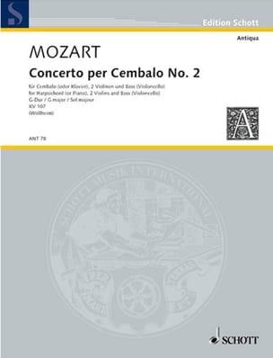 MOZART - Cembalo-Konzert Nr. 2 G-Dur - Partition - di-arezzo.co.uk