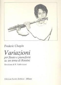 Variazioni su un tema di Rossini CHOPIN Partition laflutedepan
