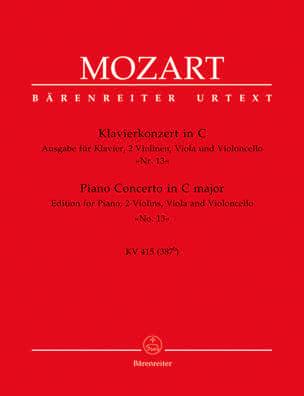 Klavierkonzert Nr. 13 C-Dur KV 415 387b -Quintett MOZART laflutedepan
