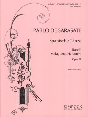 Danses Espagnoles Opus 21 Volume 1 - SARASATE - laflutedepan.com