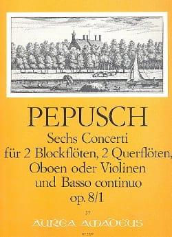 6 Concerti op. 8 : Nr. 1 -2 Blockflöten 2 Flöten u. BC laflutedepan
