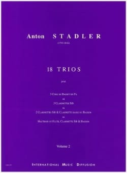 18 Trios Vol 2 Anton Stadler Partition Clarinette - laflutedepan