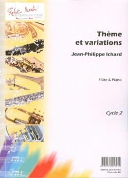 Thème et variations Jean-Philippe Ichard Partition laflutedepan