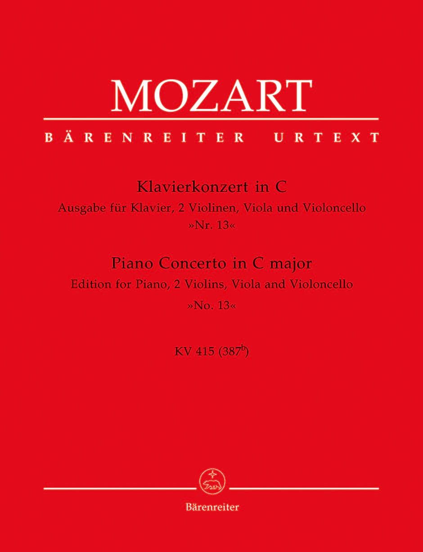 Klavierkonzert Nr. 13 C-Dur KV 415 387b -Quintett - laflutedepan.com