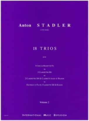 18 Trios Vol 2 - Anton Stadler - Partition - laflutedepan.com