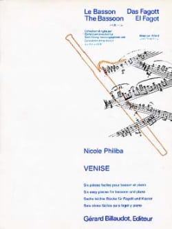 Venise Nicole Philiba Partition Basson - laflutedepan