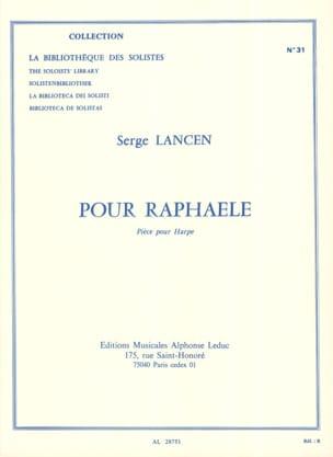 Pour Raphaele Serge Lancen Partition Harpe - laflutedepan