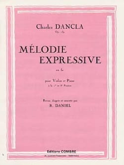 Mélodie expressive en Fa op. 159 DANCLA Partition laflutedepan