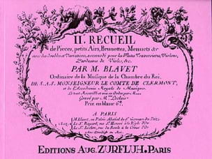 Recueil de Pièces Volume 2 Michel Blavet Partition laflutedepan