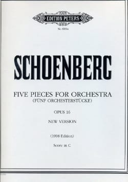 5 Orchesterstücke op. 16 - Conducteur SCHOENBERG laflutedepan