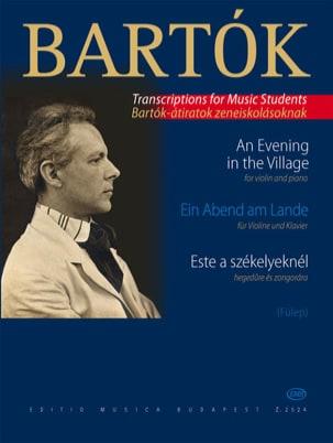 Ein Abend am Lande - Violine BARTOK Partition Violon - laflutedepan