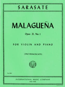 Malaguena op. 21 n° 1 SARASATE Partition Violon - laflutedepan